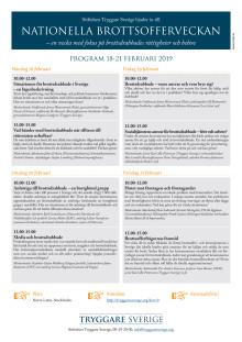Program till Nationella Brottsofferveckan 2019