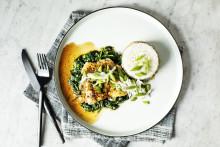 Recept på torsk med spenat, honung och kokosris