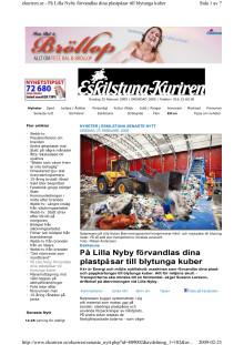 Ny balpress på Lilla Nyby i Eskilstuna