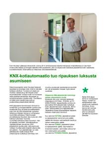 KNX-kotiautomaatio tuo ripauksen luksusta asumiseen