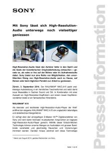 Medienmitteilung_HRA NWZ-A15_D-CH_140903