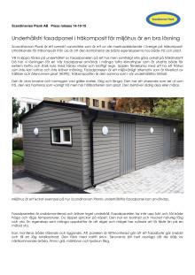 Underhållsfri fasadpanel i träkomposit för miljöhus är en bra lösning