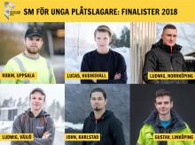 """Här är de 6 finalisterna i  """"SM för unga plåtslagare 2018""""!"""