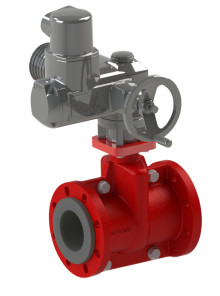 Flowrox PVG valve now available with an electric actuator