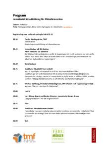 Program immaterialrättsutbildning för möbelbranschen121004
