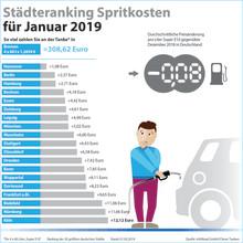 Tankmonat Januar 2019: Sturzflug der Kraftstoffpreise