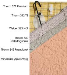 Serporoc Premium 32 är en energieffektiv fasadlösning från Weber!