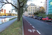 Smidigare och säkrare för cyklister på Kungsholms strand