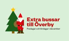 Extra bussar till Överby i december