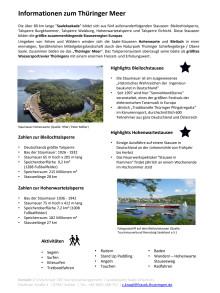 Thüringer Wassertourismus: Informationen zum Thüringer Meer