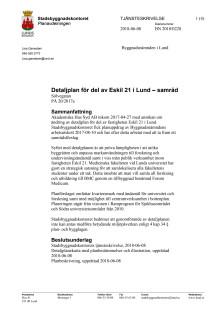Tjänsteskrivelse för Eskil 21  - Forum Medicum