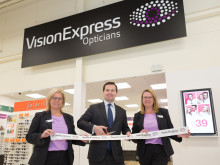 Horwich MP Chris Green joins Vision Express to celebrate the opening of its new optical store at Tesco