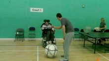 Disabled fitness instructor supports disabled groups to get active
