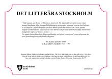 Katarina Taikon tilldelas den 77:e litterära skylten