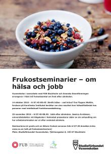 Frukostseminarier – om hälsa och jobb