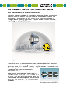 Surge voltage protection for potentially explosive areas