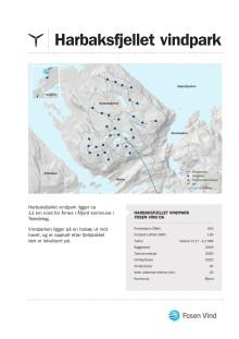 Faktaark Harbaksfjellet vindpark 2018