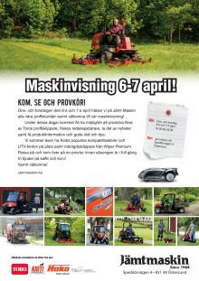 Maskinvisning 6-7 april hos Jämt-Maskin i Östersund