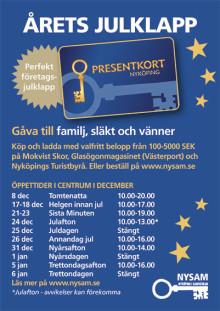 Nyköpings Presentkort - perfekt julgåva där mottagaren själv kan välja!