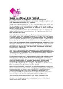 Pressmeddelande Åre Bike Festival