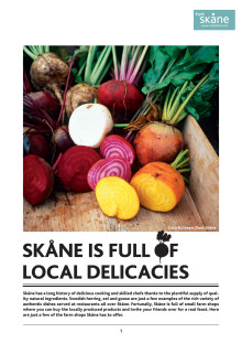 PRESSINFO: Skåne is full of local delicacies