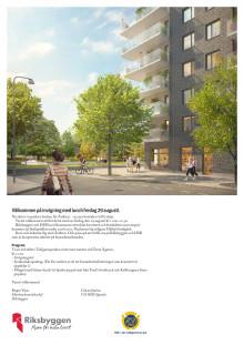 Inbjudan till första spadtag för Åsikten, Uppsala