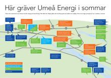 Umeå Energi gräver rekordmycket i sommar