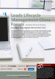 Leads Lifecycle Management China Forum Agenda