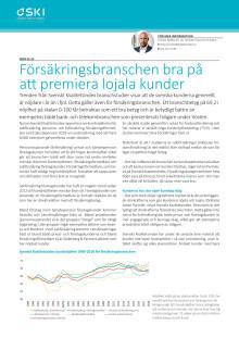 Svenskt Kvalitetsindex sammanfattning om försäkringsbranschen 2018