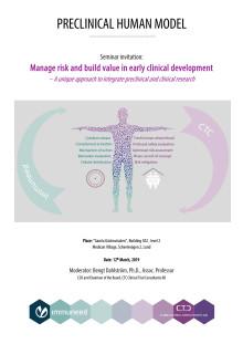 Preclinical human model seminar invitation