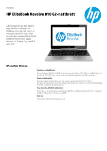 Dataark HP EliteBook Revolve 810 G2
