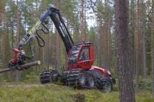 Världsmässpremiär för nya skördare på Skogsnolia