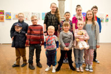 Inspirational children launch exclusive art exhibition in Birmingham