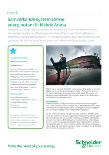 Samverkande system sänker energinotan för Malmö Arena