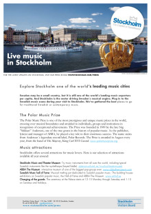 Facts: Music in Stockholm