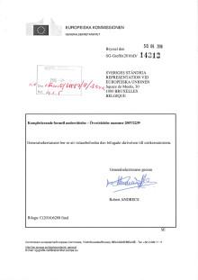 Formell underrättelse från EU-kommissionen