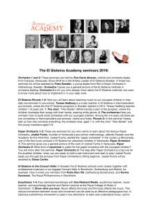 The El Sistema Academy seminars 2019