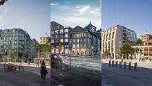 Här är de tre finalisterna som tävlar om att få utveckla Skanstorget med bostäder och förskola