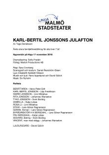 Pressmaterial Karl-Bertil Jonssons julafton