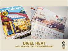DIGEL HEAT in der Zeitschrift Greenhome