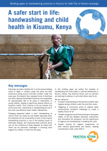 A safer start in life: handwashing and child health in Kisumu, Kenya