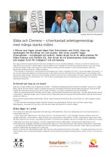 Ebba och Clemens – silverkantad arbetsgemenskap med många starka möten
