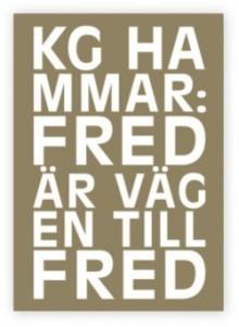 KG Hammars nya bok – en fredsteologi