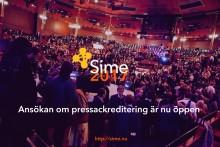 Sime Stockholm 2017 - Pressackreditering  nu öppen