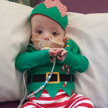 This time last year things didn't look good for Noah, but this Christmas he is thriving and we will be celebrating at home with close friends and family.