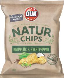 Knipplök & Svartpeppar – ny smak från OLW Naturchips