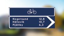 Nu gör vi det enklare för cyklister att hitta och förstärker gång- och cykelvägen i Hällevik