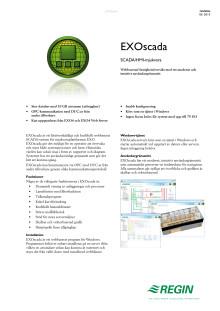 Produktblad för EXOscada