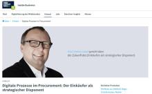 Digitale Prozesse im Procurement: Der Einkäufer als strategischer Disponent