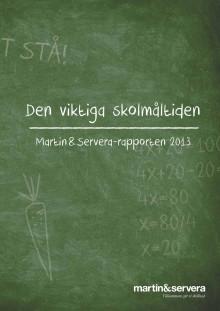 """Martin & Servera-rapporten """"Den viktiga skolmåltiden"""""""